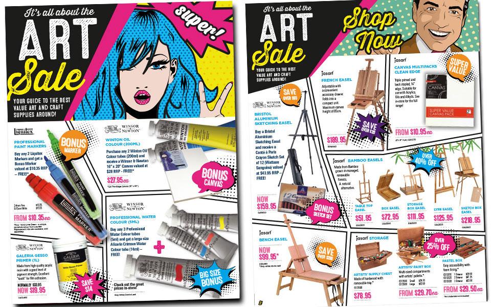 jasco june art sale brochure jmr creative design
