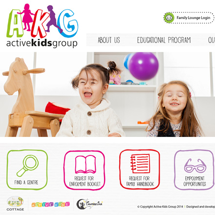 Active_Kids_Website website design