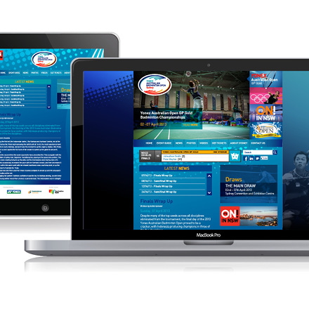 Australian_Badminton_Website website design