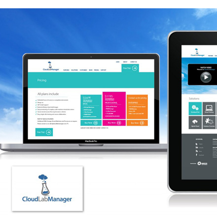 Cloud_Lab_Manager_Website website design
