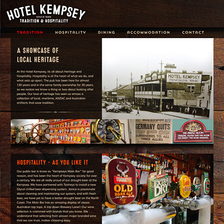 Hotel_Kempsey_Website website design