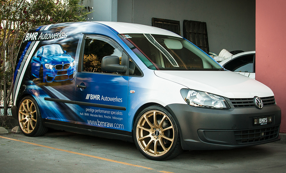 volkswagen, vw, caddy, design, signage, bmr