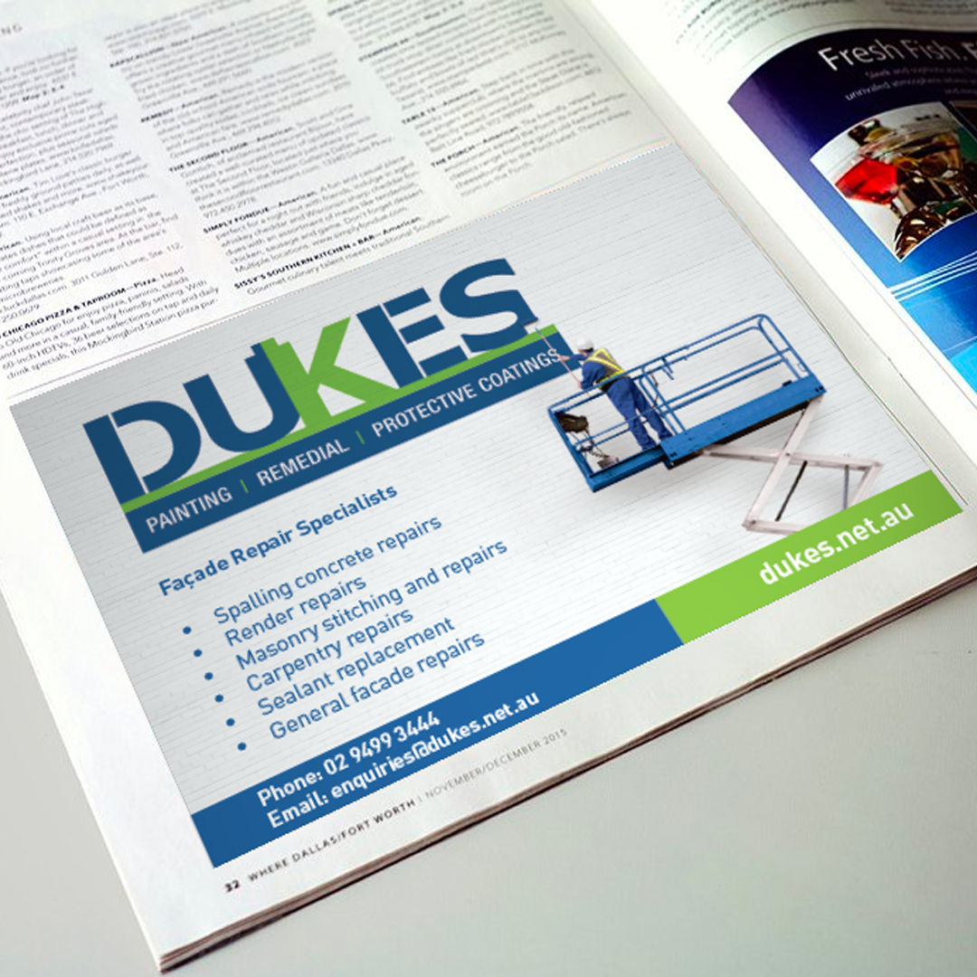Dukes, Half Page, Advertising
