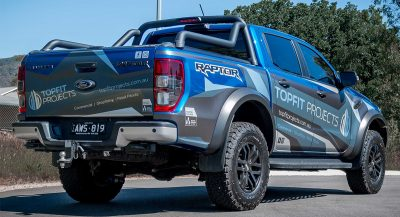 Topfit projects, vehicle, signage, ford, ranger, raptor