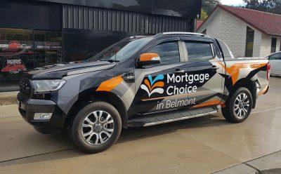 Mortgage Choice Ford Ranger Vehicle Signage